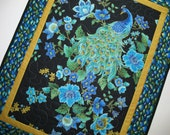 Another Peacock Wall Hanging or Table Topper in Timeless Treasure Plume Fabric