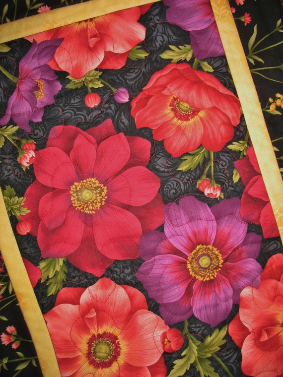 Botanical Table Runner fabric by Henry Glass