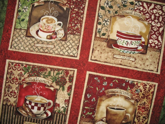 Reserved for Grace Coffee Wall Hanging  or Table Topper Wilmington Fabric line