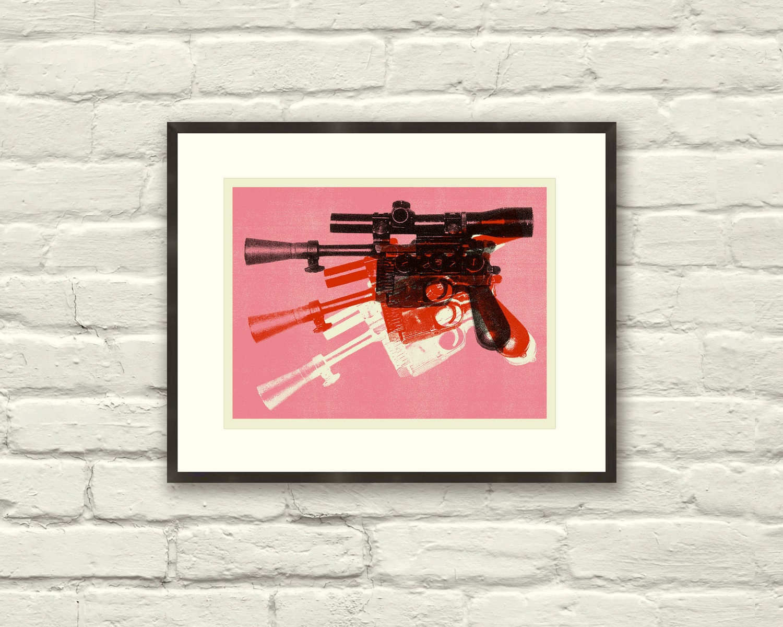 BLASTER Star Wars Inspired Warhol Gun 11 x