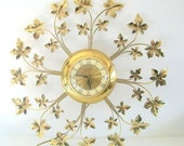 Vintage Gold Clock - Large/ Wall Decor