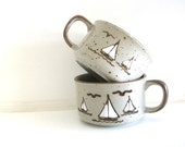 Sailboat Soup Mugs