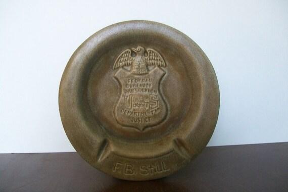 Federal Bureau Of Investigations Decorative Change/Ashtray