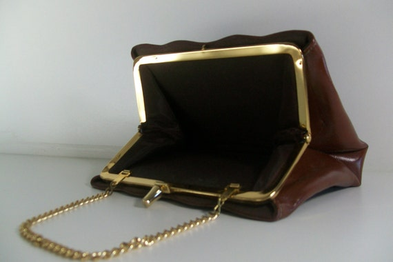 1940s Chocolate Brown Clutch/Purse
