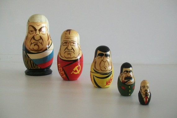 Russian Presidential Nesting Dolls