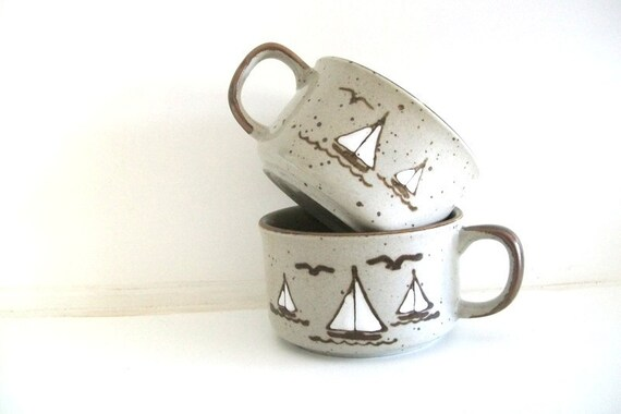 Sailboat Soup Mugs
