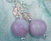 Rosey Blown Glass Earrings SALE