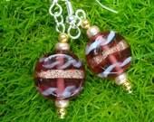 Lampwork Disc Earrings SALE