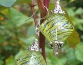 Blown Glass Bicone Earrings SALE