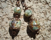 Natural Colorful Opal And Jasper Earrings.