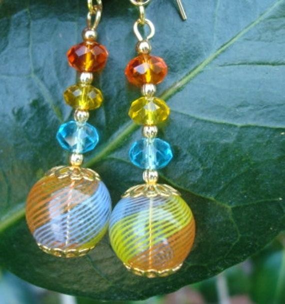 Colorful Glass Earrings