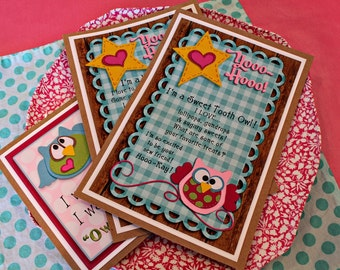 Hooo-Ray Owl Adoption Cards