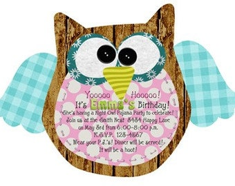 Hooo-Ray Custom Owl Invitations