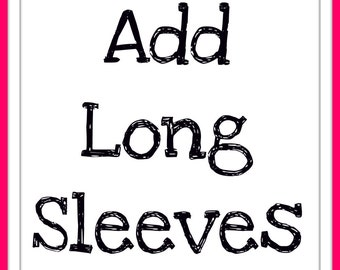 Add Long Sleeves to Shirt