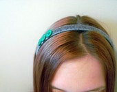 Silver and Green headband