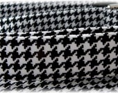 Dog Collar Classic Black White Houndstooth CHOOSE SIZE Adjustable Dog Collar D Ring Collars Accessories Pet Pets Modern Classic Accessory