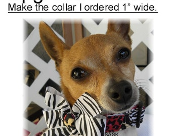 Dog Collar UPGRADE PLEASE... Please upgrade the dog collar I just purchased to 1 inch wide. Collars Pet Pets Wider