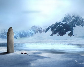 My Antarctica II -  8 x 10 Surreal Winter Blue - Childhood Dream - Limited Edition Print by My Antarctica