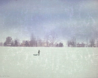 Who Mourns For Yesterday  -  8 x 10 Urban Winter Snow Landscape - Limited Edition Print by My Antarctica