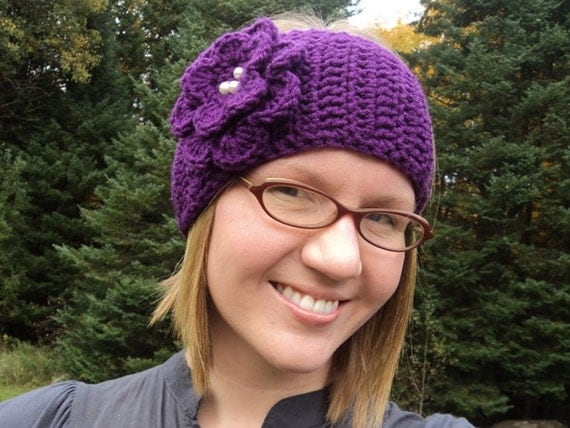 Crochet Head Wrap Headband Ear Warmer With By Portalelements