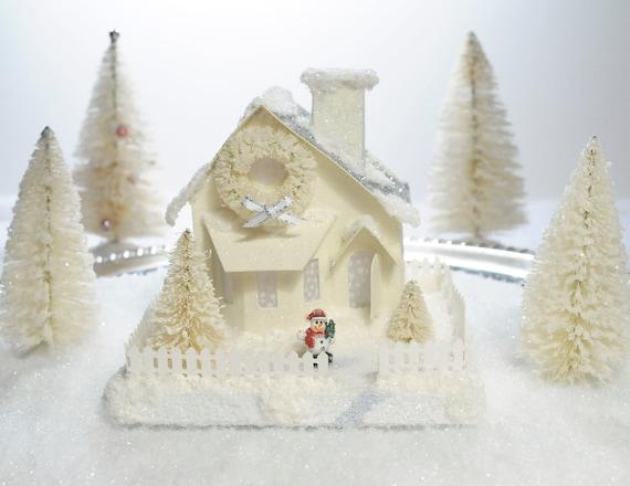 Putz Glitter House Bay Window White Collection