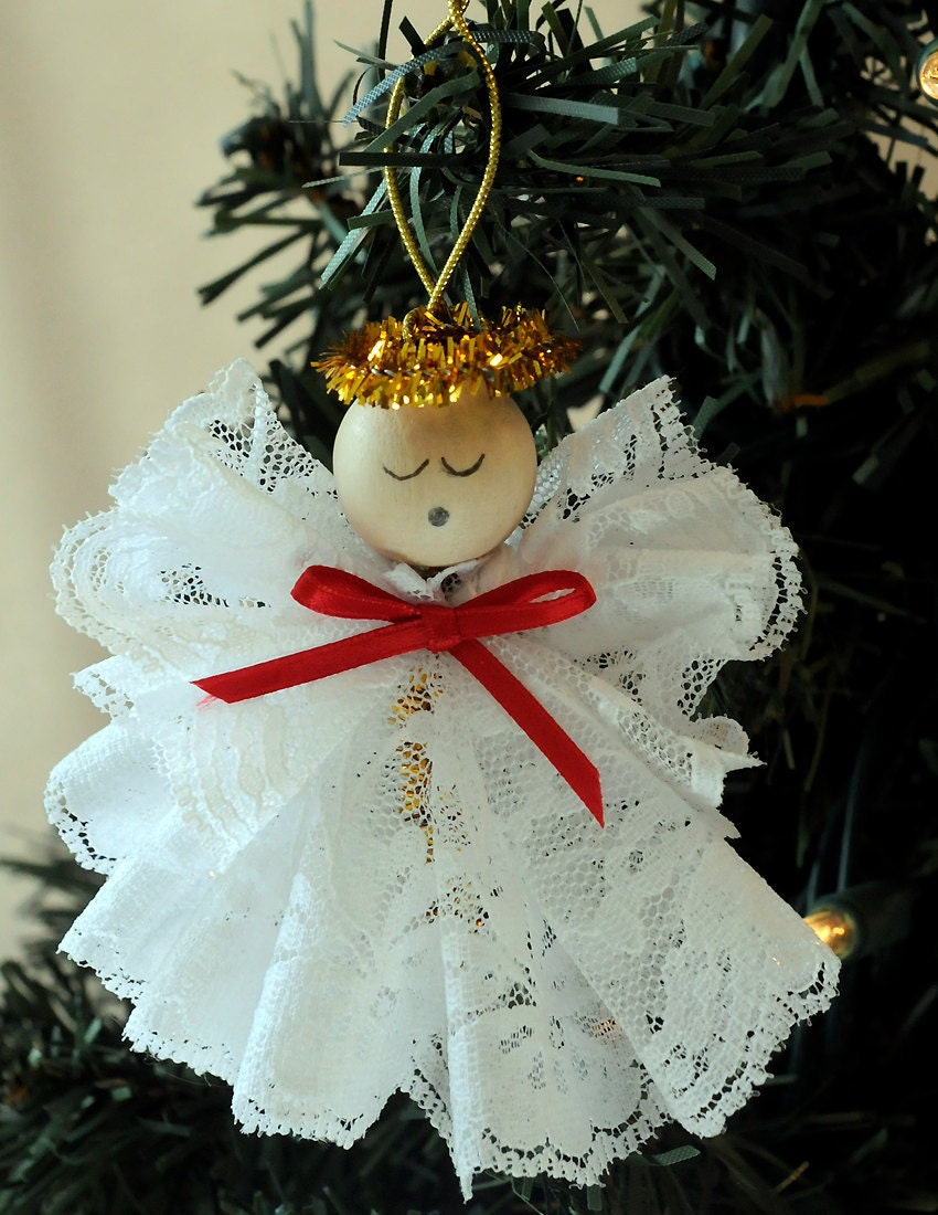 Diy Christmas Ornaments Etsy : Diy angel ornament christmas craft kit by holidayspiritsdecor