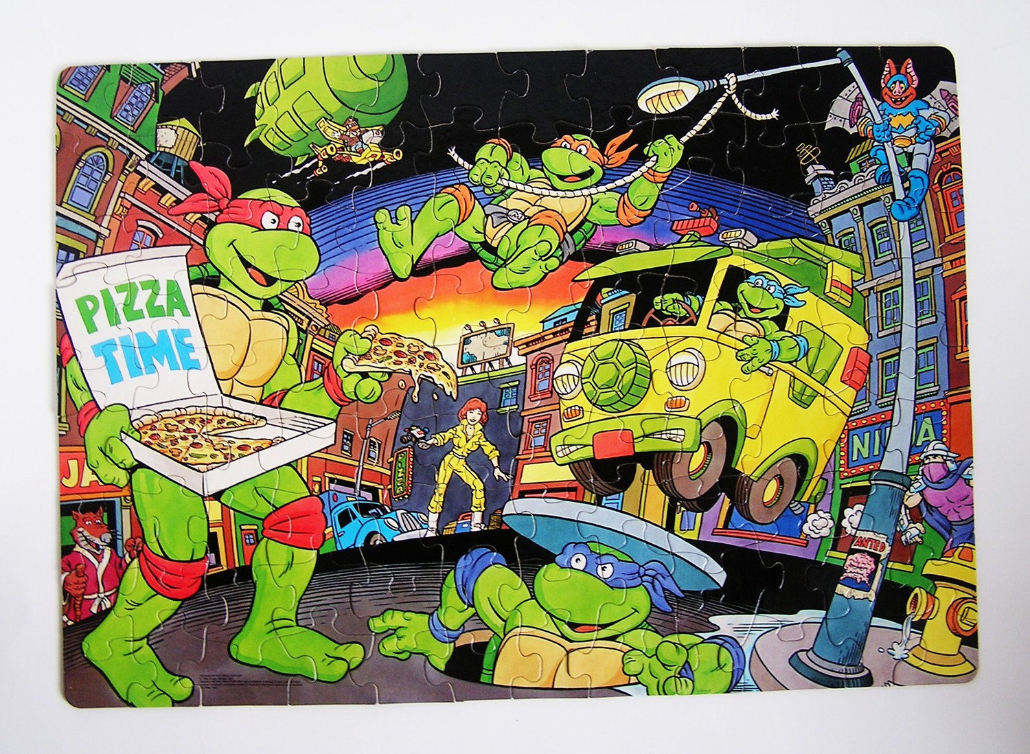 Teenage Mutant Ninja Turtle Puzzle 1980s by smilehood on Etsy