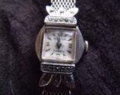Vintage BULOVA Swiss 17 Jewel Ladies Mechanical Watch w/ factory Diamonds