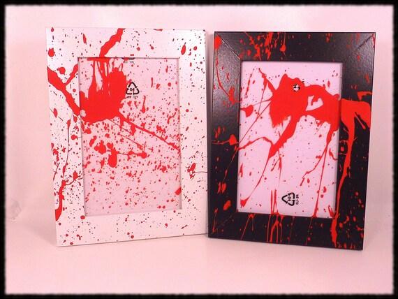 Black Blood Splatter Frame