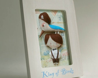 King of Birds art print,  framed, DreamsKingdom
