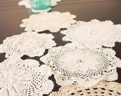 Vintage Lace Doily Table Runner