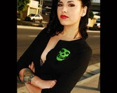 Lime Green Misfits Fiend Cardigan (All Sizes)