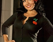Cherrylicious Rockabilly Pin Up Cardigan Sweater, All Sizes