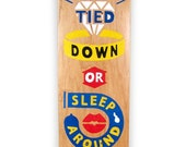 Hand Painted Skateboard - Down or Town