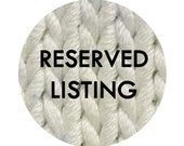 Reserved Listing for Sharon Tan