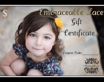 Gift Certificate for 15 Dollars