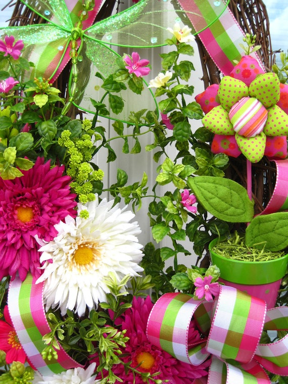 BLOOM- Stunning -Cheerful -Oval SPRING -Summer -Easter- WREATH- Free Shipping