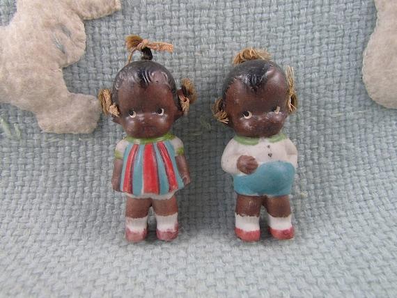 SALE Dolls Black Americana Antique Porcelain Handmade Adorable