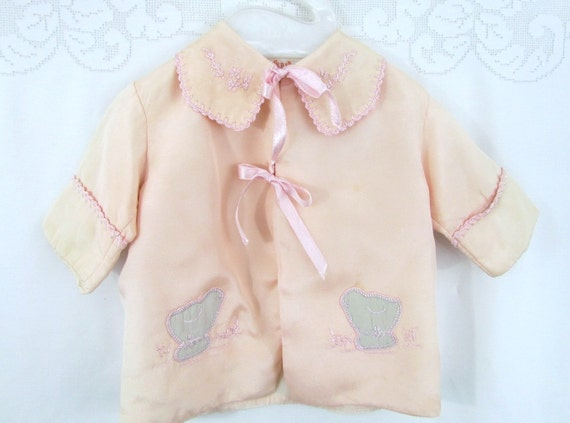 Antique Baby Jacket with Appliqued Baby Chicks