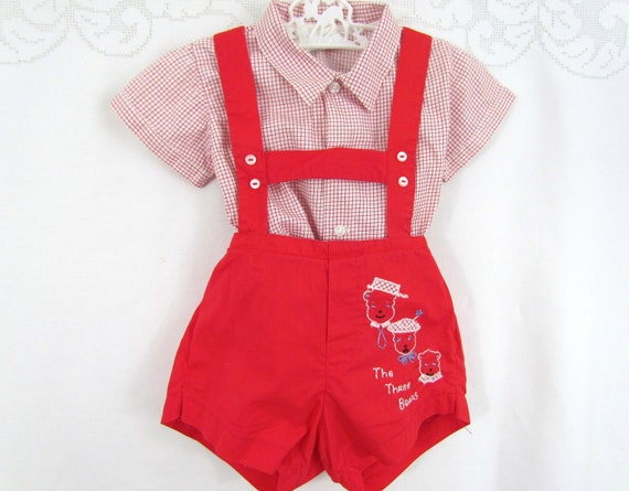 Vintage Baby Boys Outfit by Honeysuckle The Three Bears