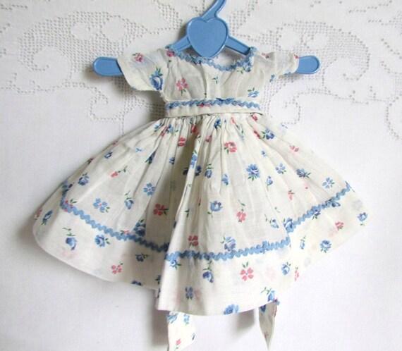 SALE Vintage Doll Dress with Rick Rack Trim Handmade
