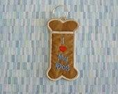 I Love My Dog Keychain Chapstick Holder