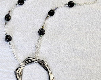 SALE - OOAK Molten Ring Necklace