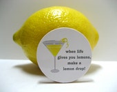 When Life Gives You Lemons, Make a Lemon Drop - Funny Wood Magnet