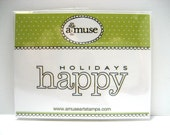 SALE - Happy Holidays - Limited Edition - Amuse Clear Sentiment Stamp