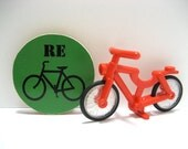 REcycle - Go Green - Funny Wood Magnet