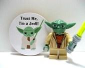 Star Wars Yoda - Trust Me, I'm a Jedi - Funny Wood Magnet