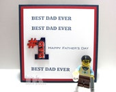 Best Dad Ever - 1 Dad - Happy Father's Day Greeting Card