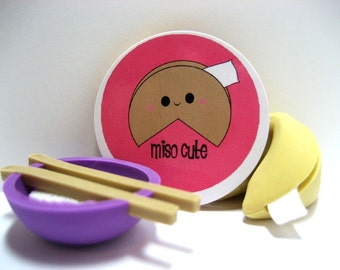 Fortune Cookie - Miso Cute - Wood Magnet