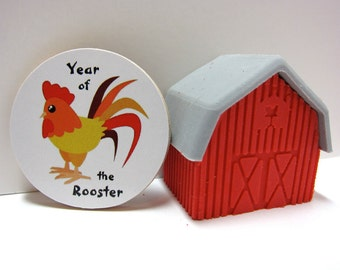 Chinese Zodiac - Year of the Rooster - Wood Magnet